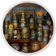 Collector - Hats - The Hat Room Round Beach Towel by Mike Savad