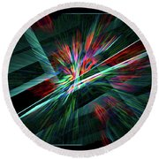 Color Burst Round Beach Towel