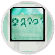 Color Prints Round Beach Towel