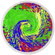 Color Spin Round Beach Towel