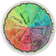 Color Wheel Round Beach Towel