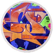 Colorful Abstract Street Art  Round Beach Towel