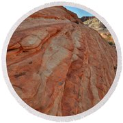 Colorful Sandstone Wave In Valley Of Fire Round Beach Towel