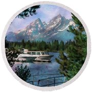 Colter Bay In The Tetons Round Beach Towel