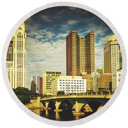 Columbus Ohio Round Beach Towel