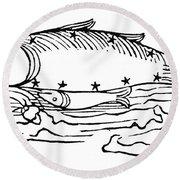 Constellation: Pisces Round Beach Towel