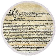 Constitution Round Beach Towel