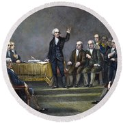 Constitutional Convention Round Beach Towel