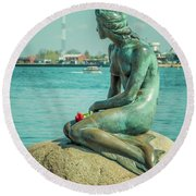Copenhagen Little Mermaid Round Beach Towel