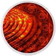 Copper Rose Round Beach Towel
