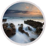 Coral Cove Dawn Round Beach Towel