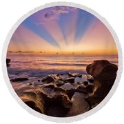 Coral Cove Round Beach Towel