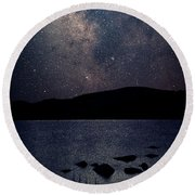Cosmic Fantasy Round Beach Towel