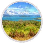 Costa Rica Landscape Round Beach Towel