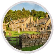 Cotswolds Evening Round Beach Towel