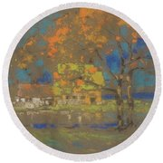 Cottage Amongst The Trees Round Beach Towel