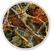 Countryside Household Dust Round Beach Towel