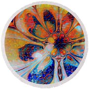 Crazy Daisy Round Beach Towel