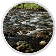 Creek, Smoky Mountains, Tennessee Round Beach Towel