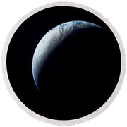 Crescent Earth Taken From The Apollo 4 Round Beach Towel