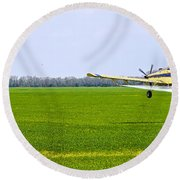 Crop Dusting Round Beach Towel