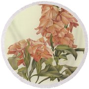 Crossandra Round Beach Towel
