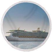 Cruise Ship Round Beach Towel