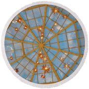 Crystal Web Round Beach Towel