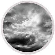 Cumulonimbus Clouds  Round Beach Towel