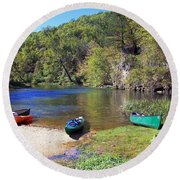 Current River 5 Round Beach Towel