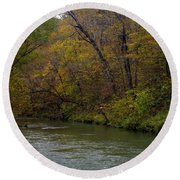 Current River 8 Round Beach Towel