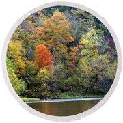 Current River Fall Round Beach Towel