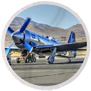 Czech Mate Engine Start Sunday Afternoon Gold Unlimited Reno Air Races Round Beach Towel