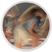 Dancers In Motion  Round Beach Towel