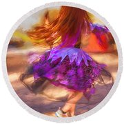 Dancing To The Drums Round Beach Towel