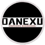 Danexu Technologies Logo Round Beach Towel