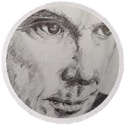 David Byrne  Round Beach Towel