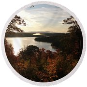 Dawn At Algonquin Park Canada Round Beach Towel