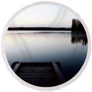 Dawn At Lynx Lake In Northern Saskatchewan Round Beach Towel