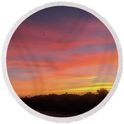 Colorful Dawn Of A New Day  Round Beach Towel