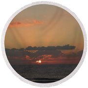 Day Dawns Round Beach Towel