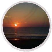 Daytona Sunrise Round Beach Towel