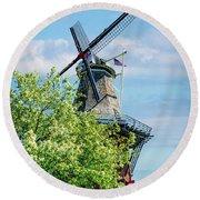 De Zwaan Windmill Round Beach Towel