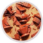Death By Chocolate Round Beach Towel
