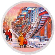Debullion Street Winter Walk Round Beach Towel
