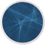Deep Sea Computer Graphic Line Pattern Round Beach Towel