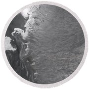 Degraded Landscape Minerals Mine In South Of Poland.  Round Beach Towel