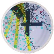 Deliverance Is Here Round Beach Towel