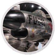 Dennis The Menace, North American, F-86d Sabre Round Beach Towel