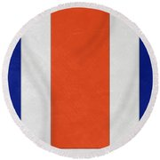 Denver Broncos Helmet Art Round Beach Towel